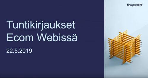 Tuntikirjaukset - Webinaari finago ecom