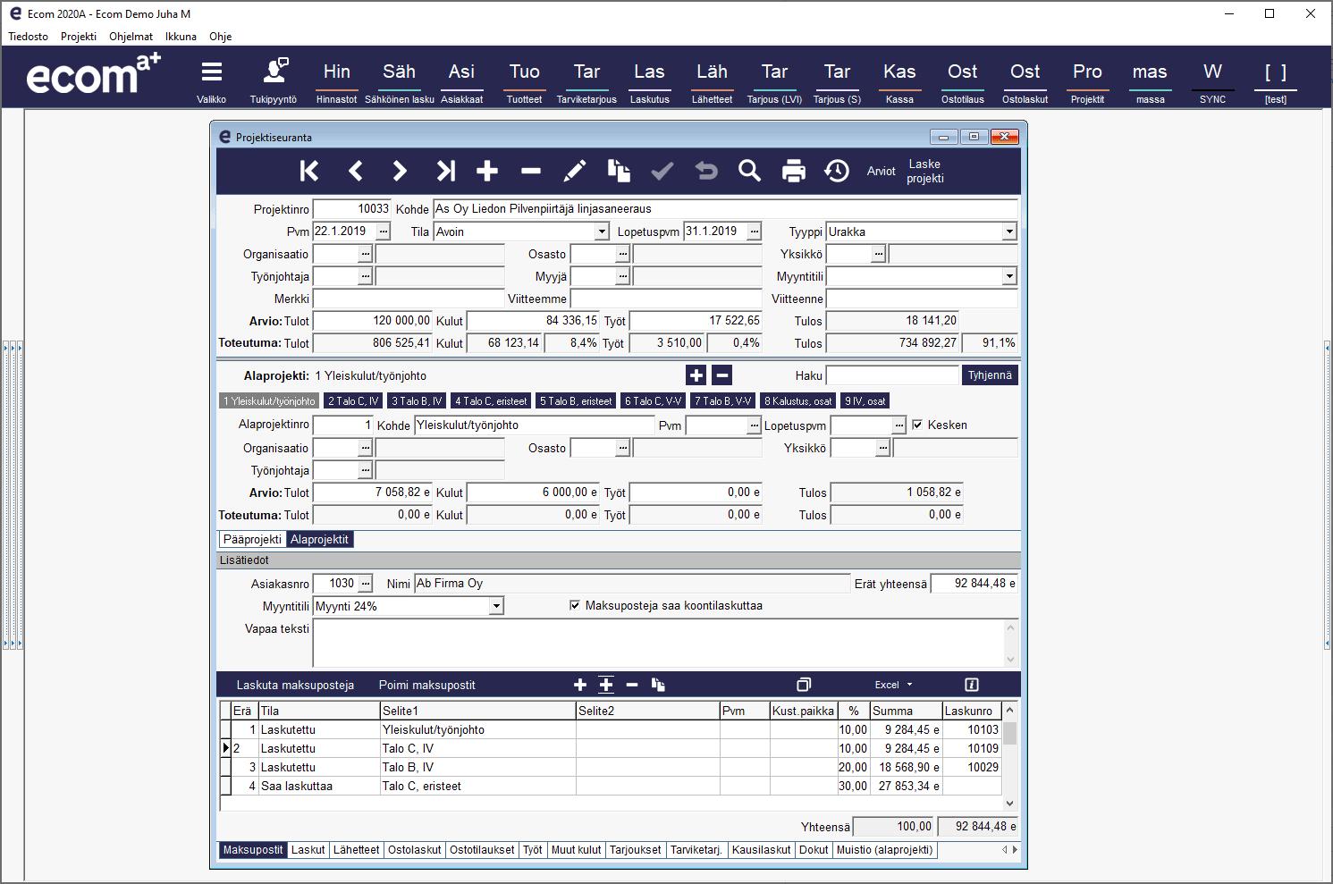 Ecom ohjelmistopaketit