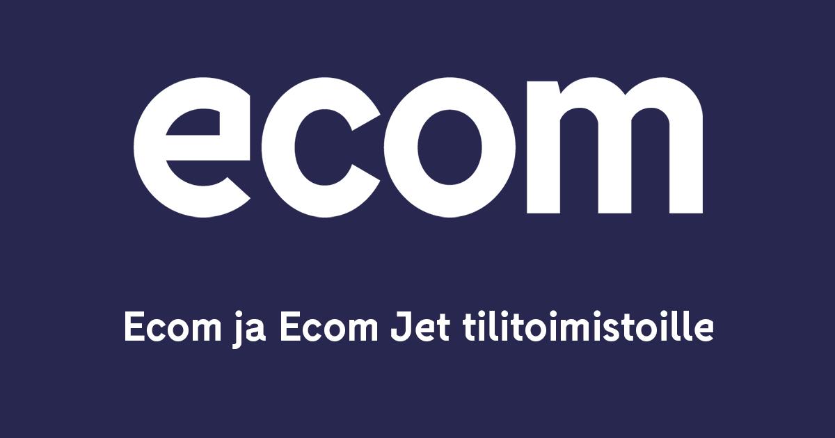 Ecom ja Ecom Jet tilitoimistoille - Webinaari Ecom